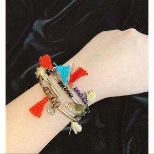 Abercrombie & Fitch A&F Beaded Bracelet Tassels